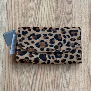 NEW WITH TAGS Nordstrom Leopard Clutch